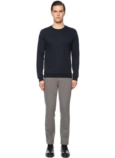 George Hogg George Hogg 7003939 Slim Fit Bordo Sweatshirt Erkek Sweatshirt Lacivert